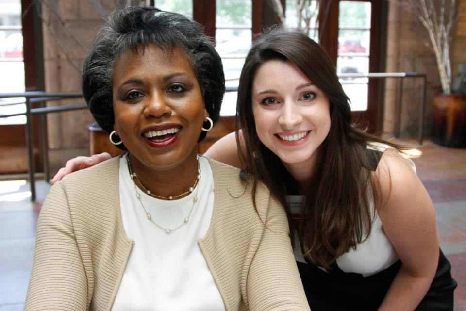 Bachmayer with Anita Hill at Women Winning's Annual Event.