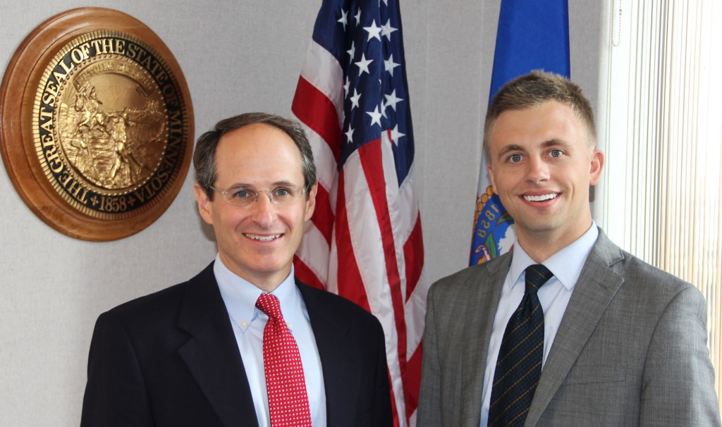 Swenson and the Commissioner of the Minnesota Department of Commerce Mike Rothman.