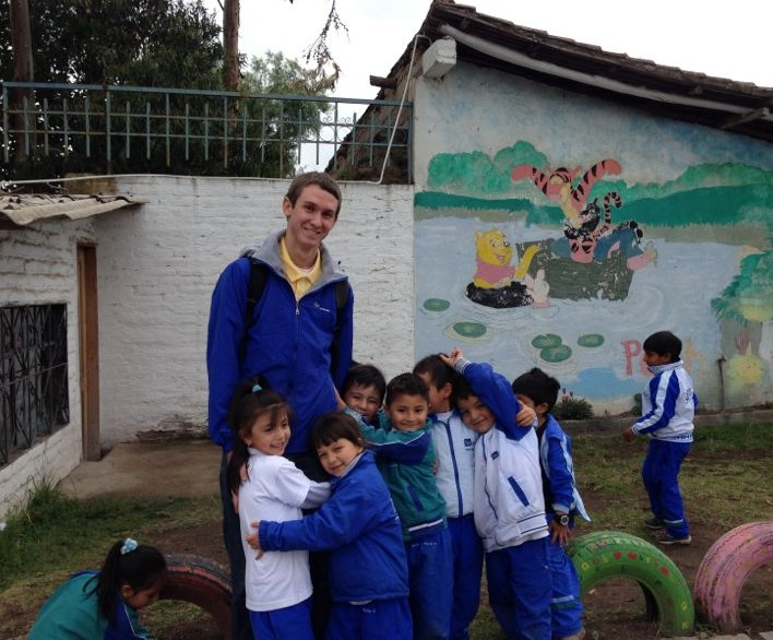 Daniel Venn '15 has developed a passion for teaching English to students in South America.
