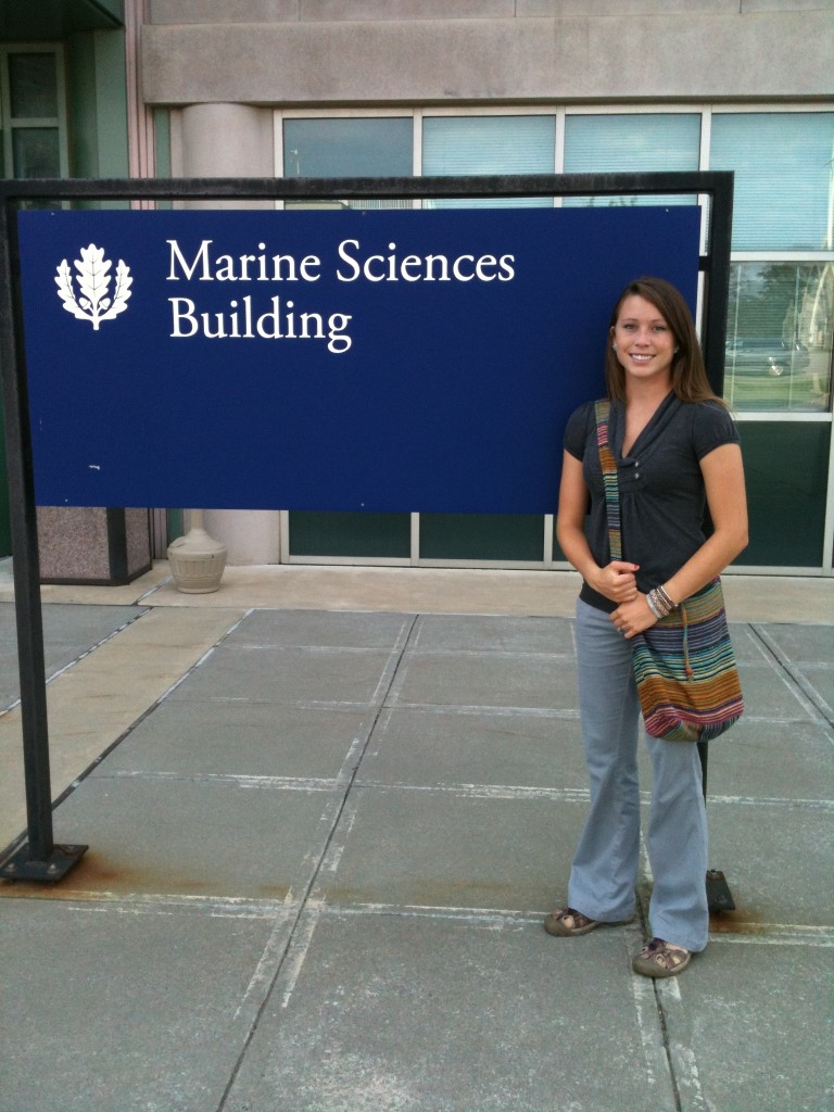 Emily Seelen is pursuing her PhD in oceanography within the University of Connecticut's Department of Marine Sciences.