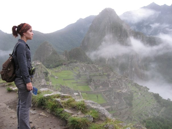 Johanson at Machu Picchu in Peru.